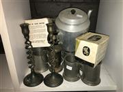 Sale 8659 - Lot 2193 - Collection of Tankards, Teapot etc