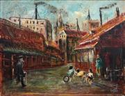 Sale 8692 - Lot 506 - Charles Edward (Hoppy) Hopgood (1917 - 1992) - Street Kids 34.5 x 45cm