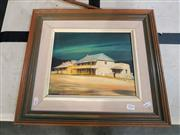 Sale 8695 - Lot 2024 - Thomas Boyd - Old Hotel Paterson, oil on board, 43 x 48cm (frame size), signed lower left