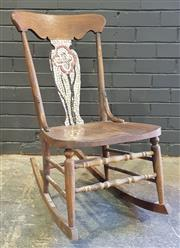 Sale 8979 - Lot 1002 - Childs Racking Chair with Tiled Splat (h:85 x w:44cm)
