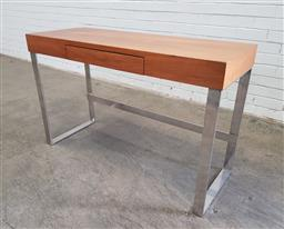 Sale 9151 - Lot 1153 - Modern metal based hall table with single drawer (h:74 x w:120 x d:45cm)