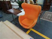 Sale 7969A - Lot 1097 - Jacobsen Style Egg Chair in Orange