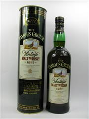 Sale 8225 - Lot 1729 - 1x 1987 The Famous Grouse 12YO Malt Scotch Whisky - 700ml in canister
