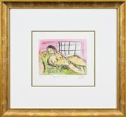 Sale 8282A - Lot 85 - Kevin Charles (Pro) Hart (1928 - 2006) - Reclining Nude 15 x 19.5cm