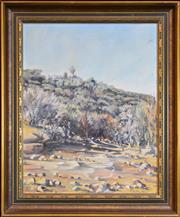 Sale 8325A - Lot 96 - Christine Hill (XX) - Half-way Halt, Barrenjoey Lighthouse, Centennary Open Day 49.5 x 35.5cm