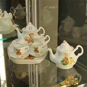 Sale 8379 - Lot 11 - Florence Collectables Teddy Bear Tea Setting with Another Teapot