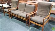 Sale 8383 - Lot 1011 - Vintage Teak Three Piece Parker Lounge Setting