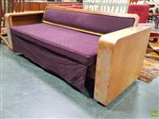 Sale 8585 - Lot 1011 - Vintage Australian Maple Day Bed with Book Compartment Ends
