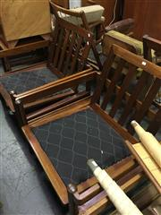Sale 8643 - Lot 1167 - Pair of Danish Delux Armchairs (incomplete)