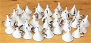 Sale 8984H - Lot 348 - A collection of small enamel funnels, each approx 7cm in height.