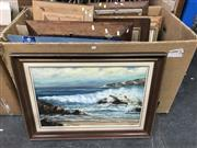 Sale 9016 - Lot 2085 - Box of Assorted Early and Modern Paintings & Prints