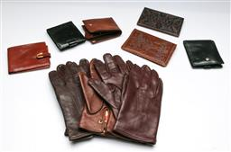 Sale 9164 - Lot 133 - A collection of leather wallets, purses and driving gloves