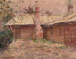 Sale 9244 - Lot 502 - WILLIAM NICHOLLS ANDERSON (1872 - 1927) Cottage oil on canvas on board 25.5 x 33 cm (frame: 45 x 52 x 2 cm) signed lower left