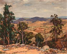 Sale 9256A - Lot 5056 - AILSA ROBB Lachlan Valley Near Cowra oil on board 29 x 36.5 cm (frame: 49 x 57 x 4 cm) signed lower left