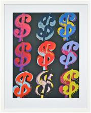 Sale 8188A - Lot 64 - Andy Warhol (1928-1987) After. - $9 70 x 55cm (frame size 94 x 77cm)