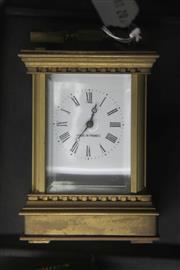 Sale 8314A - Lot 23 - French Brass Rectangular Case Carriage Clock