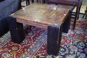 Sale 8550 - Lot 1395 - Timber Side Table with Copper Top