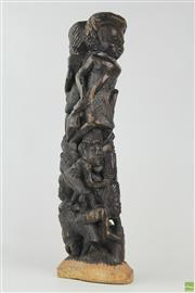 Sale 8578 - Lot 5 - African Carved Tree Of Life ( H 46cm)
