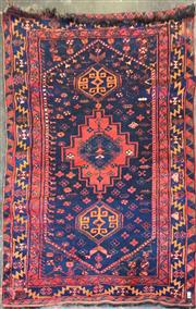 Sale 8740 - Lot 1294 - Blue and Red Floor Rug (320 x 150cm)