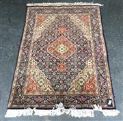 Sale 9034 - Lot 1095 - Persian Multi-Coloured Prayer Rug with Floral Surrounds (143x100cm)