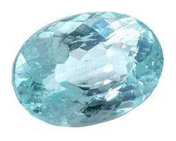 Sale 9124 - Lot 421 - AN UNSET 2.55CT PARAIBA TOURMALINE; with GIA report 2367346483 stating greenish blue, size 9.71 x 6.90 x 5.43mm.