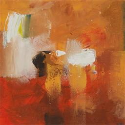 Sale 9154JM - Lot 5044 - CHERYL CUSICK Abstract II acrylic on paper 39 x 39 cm (frame: 81 x 75 x 2 cm) signed lower right