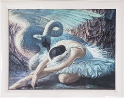 Sale 9171 - Lot 1004 - Vintage print by Tretchikoff The Dying Swan (h:54 x w:69cm)
