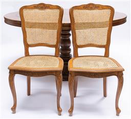 Sale 9200P - Lot 93 - A set of six caned French Provincial chairs, Height of back 92cm x Width 50cm