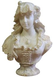 Sale 7995 - Lot 26 - Victorian Marble Carved Figure of a Young Woman