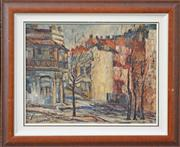 Sale 8068A - Lot 9 - Loraine Haines (XX) - Paddington Street Scene 33.5 x 43cm