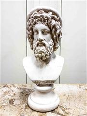 Sale 8577 - Lot 186 - A bust of Aesculapius Greek God of Medicine and Healing,  Condition: As New, H 32cm