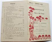 Sale 8639 - Lot 79 - Fold-out Card, Souvenir and Diary of the Voyage of HMAT Konigin Luise, England to Australia December 1919 to February 1920.