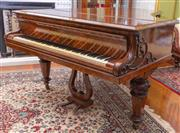 Sale 8649A - Lot 3 - A Victorian burr walnut grand piano, Collard and Collard, serial number 9688