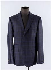 Sale 8770F - Lot 22 - An unworn mens Boss Hugo Boss sports jacket in navy and blue check, size UK 56