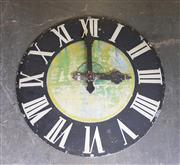 Sale 8971 - Lot 1020A - Large Tin Decorative Clock Face (Diameter: 181 x Depth: 5.5cm)