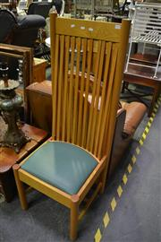 Sale 8093 - Lot 1017 - Pair of High Back Dining Chairs