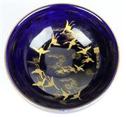 Sale 8139 - Lot 44 - Kinkozan Satsuma Blue Bowl