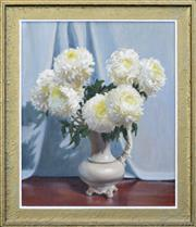 Sale 8257A - Lot 13 - Artist Unknown (XX) - Chrysanthemums 58.5 x 49cm