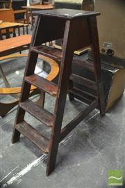 Sale 8326 - Lot 1068A - Timber Library Ladder