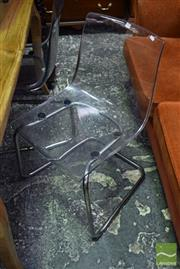 Sale 8523 - Lot 1076 - Set of 4 Perspex Dining Chairs