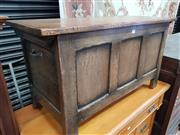 Sale 8868 - Lot 1055 - Small 17th Century Style Oak Chest, on stile feet