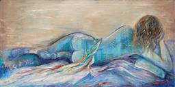 Sale 9154JM - Lot 5091 - WENDY LE GRANGE (1958 - ) Relaxed acrylic on canvas 50.5 x 102 cm signed lower left