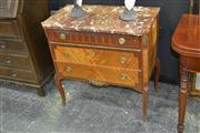Sale 7981A - Lot 1007 - Louis XVI Style Inlaid Three Drawer Commode with Marble Top