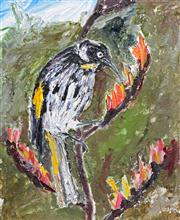 Sale 8203A - Lot 59 - Martin King (1957 - ) - Honeyeater 25 x 20cm