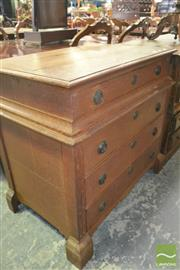 Sale 8267 - Lot 1071 - Partly Georgian Small Oak Chest on Chest, of four drawers  (top section lifts off) & on bracket feet (alterations)