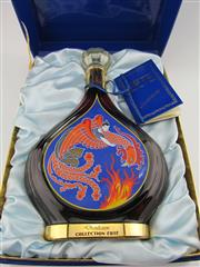 Sale 8439 - Lot 704 - 1x Courvoisier Collection Erte - Distillation Extra Cognac - limited release in 24ct gold detailed 750ml decanter in box