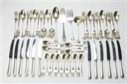 Sale 8662 - Lot 3 - 800 Standard Silver Cutlery Setting for 12