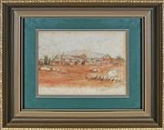 Sale 8927 - Lot 2087 - South African School - Artillery Barracks, Pretoria, 1903 watercolour 14.5x22cm, inscribed and signed -