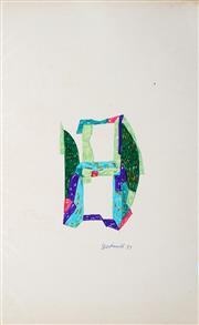 Sale 8991A - Lot 5080 - Lyndon Dadswell (1908-1986) (2 works) - Studies for Sculpture no. 327 & no.328, 1977 33 x 20.5 cm, each