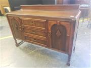 Sale 8951 - Lot 1096 - Timber Elevated Sideboard with Three Drawers & Two Doors (H:104 x W:152 x D:45cm)